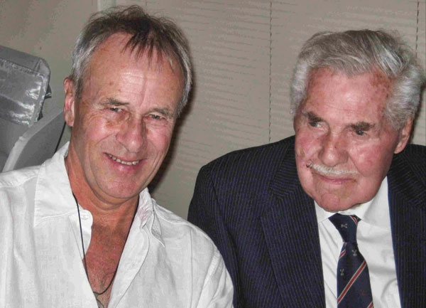 Picture of Robert with his nephew, Mike Bulpitt, taken recently at his Grandaughter's wedding in Paarl.