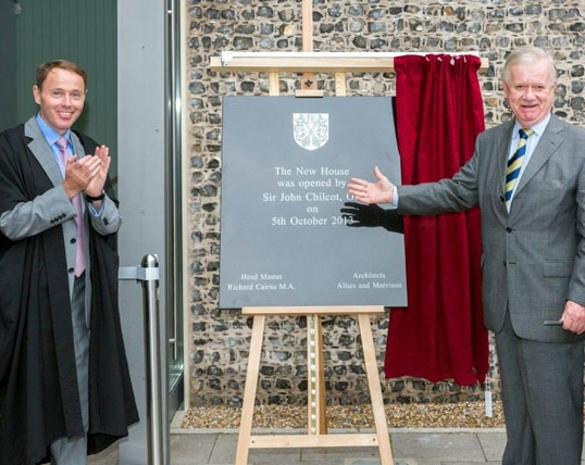 Sir John Chilcot, President of the Old Brightonians officially opened New House, Saturday 5th October