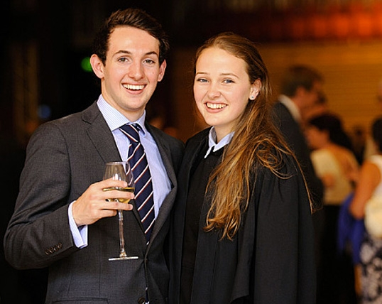 Charlotte Haney and Will Emery at Brighton College's Speech Day