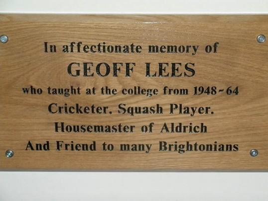 The Plaque in the Sammy Woods Pavilion