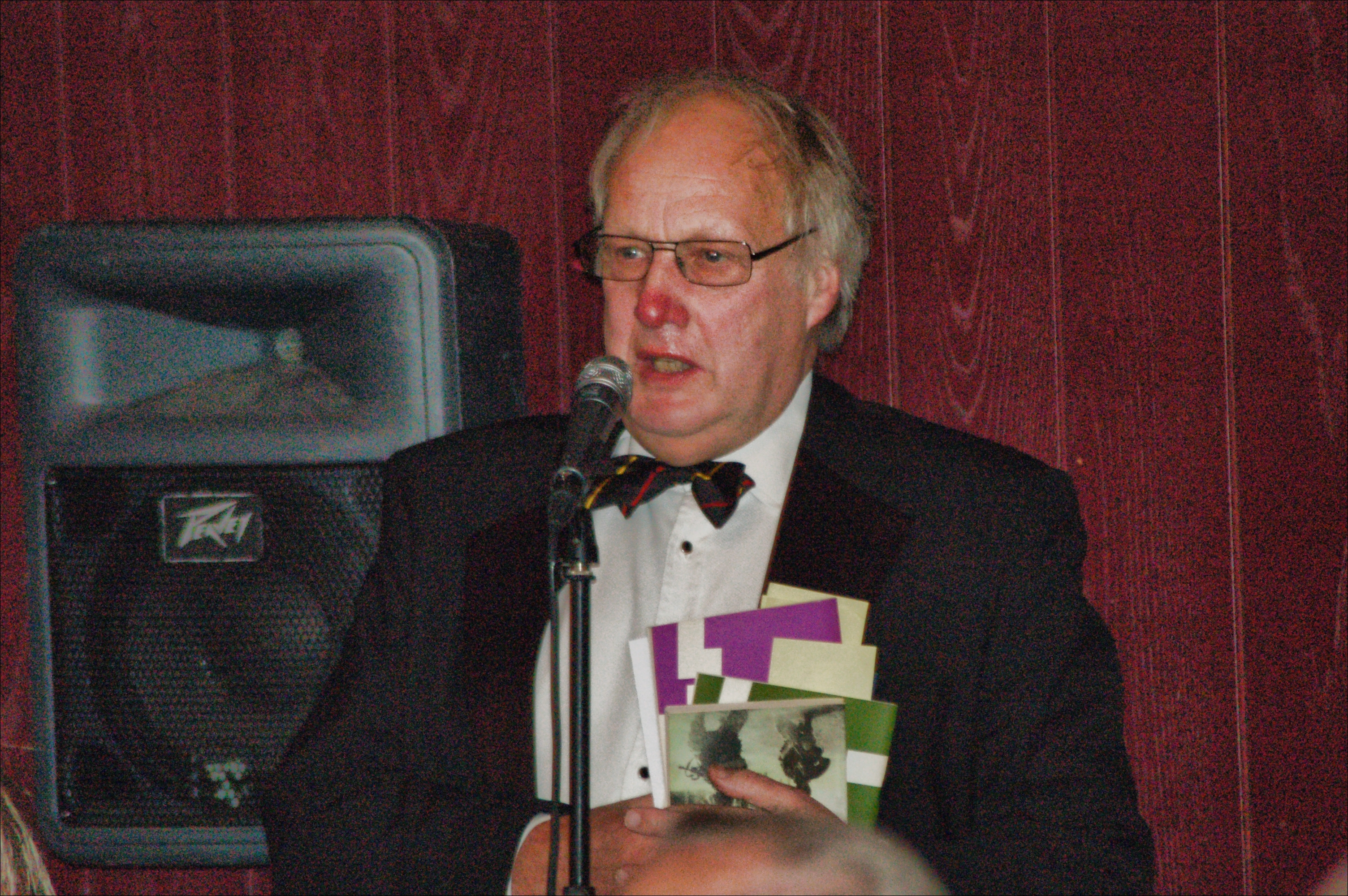 President of the OBA, Tony Whitestone (ex staff, 1971-2006) at the Annual Dinner 2009
