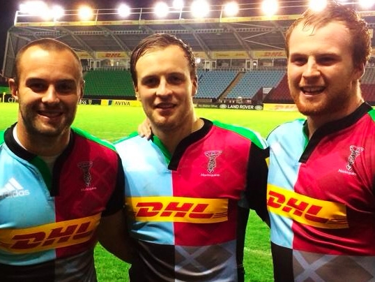 L to R: Ross Chisholm (Du. 2007-09), Alastair Chisholm (Du. 2009-11) and James Chisholm (Du. 2011-13)