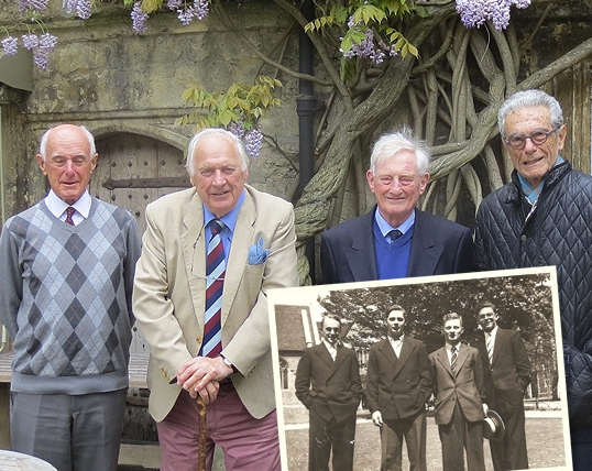 The boys in 1955 & 60 years on!