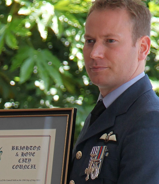 Fl. Lt. Marc Heal (1994-98) awarded the freedom of the city of Brighton & Hove