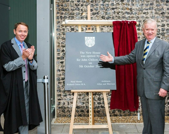 Sir John Chilcot, President of the Old Brightonians officially opened New House on Saturday 5th October.