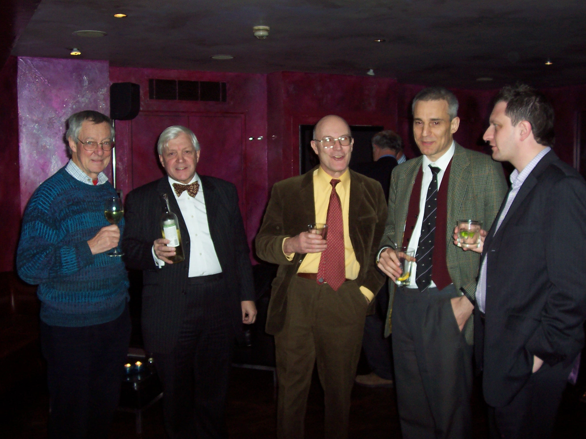 Simon Lanyon (C. 1951-56), Peter Cockburn (S.1959/64), Michael Bishop (C. 1960-65) James Brenan (S. 1972-77) and David Gold (S. 1986-91)