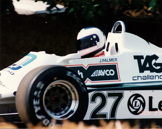 Jonathan in the 1980 Williams Ford FW07 F1