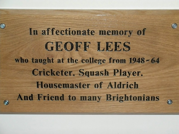 A new memorial plaque has been erected in the Sammy Woods Pavilion