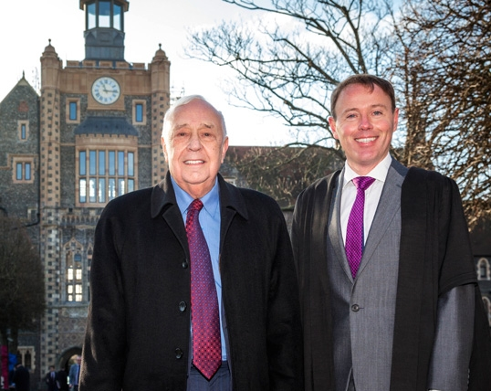 Professor Lord Robert Skidelsky (C. 1953-58) & Head Master Richard Cairns