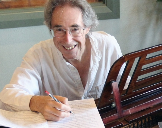 Paul Lewis (H.1951-59) composing in Napier, New Zealand, Jan 2012