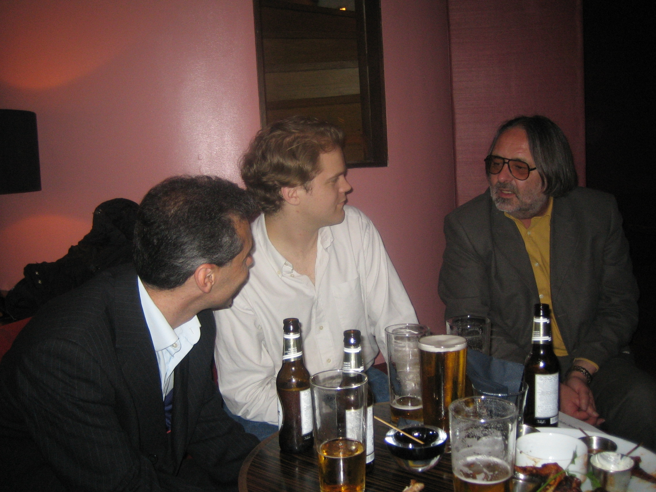 Adam Goldman (H. 1979-84), Jack Bremer (BCJS 1990-94) and John Vadgama (1964-68)